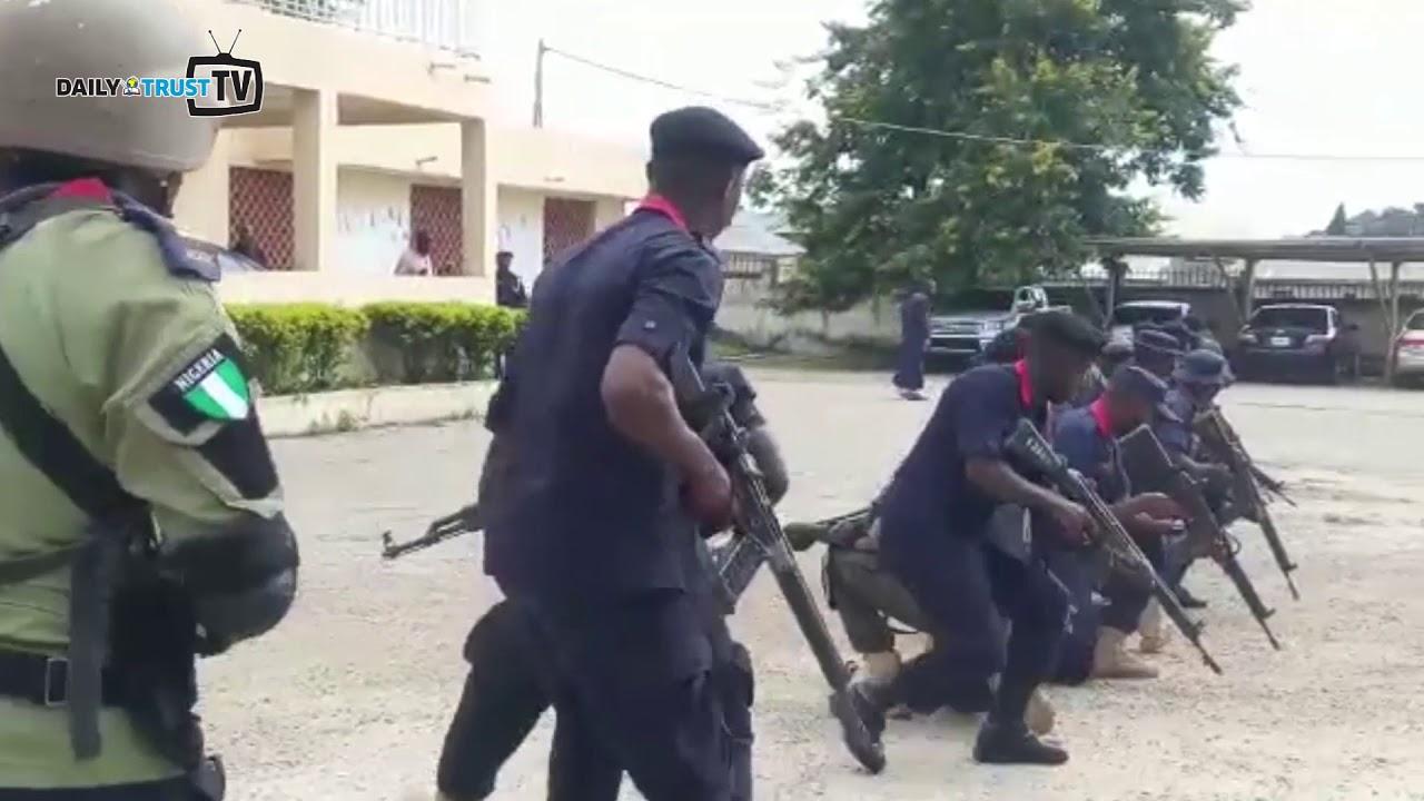 Bauchi Civil Defence Agro-Rangers perform drills