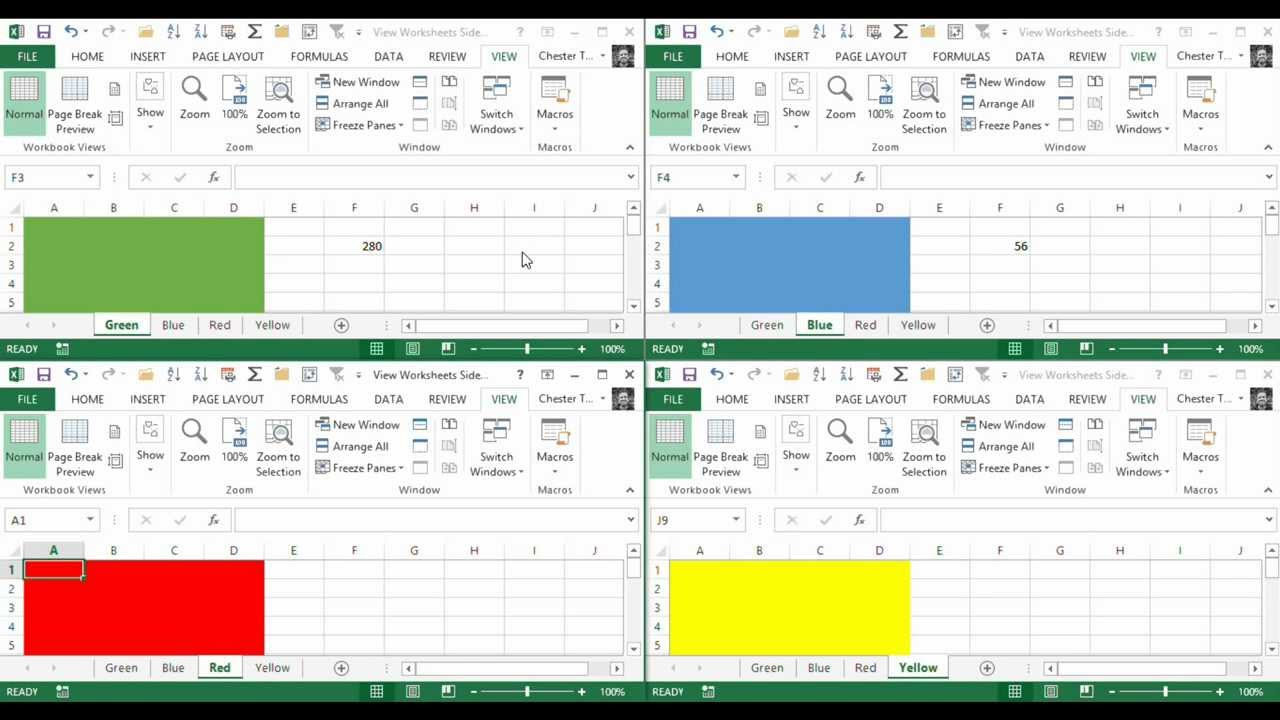 worksheet Excel Worksheet View tileview multiple excel worksheets within the same workbook youtube workbook