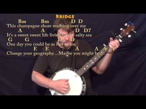 Knee Deep (Zac Brown) Banjo Cover Lesson with Chords/Lyrics - Capo ...