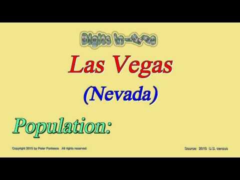 Las Vegas Nevada Population in 2010 - Digits in Three