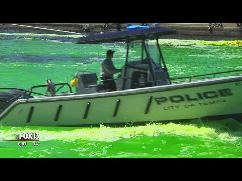 Hillsborough River turns green for St. Patrick's Day