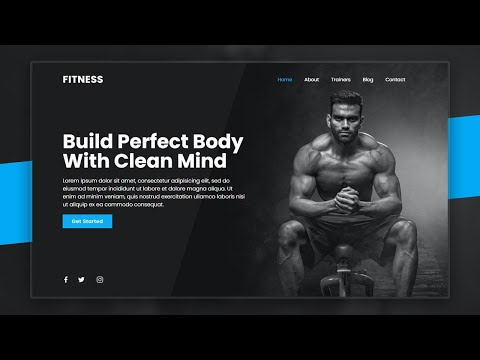 Fitness Landing Page Website Design Using Html CSS & Javascript | Step By Step