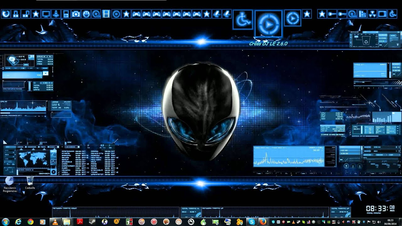 Mon bureau pc futuriste windows 7 poetegamer youtube for Windows 7 bureau vide