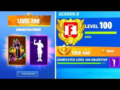 *NEW* LEVEL 100 REWARDS In Fortnite! (SEASON 10)