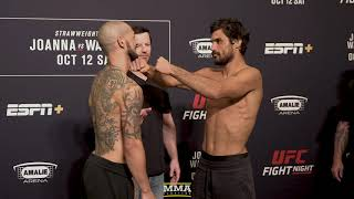 UFC Tampa: Cub Swanson vs. Kron Gracie Weigh-In Staredown - MMA Fighting