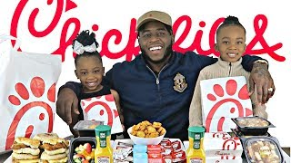 CHIK FIL A BREAKFAST MUKBANG WITH 2 TODDLERS! | Cuteness Overload | Dad and Kids