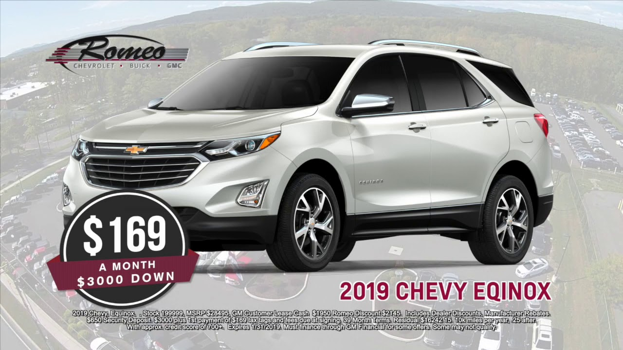 2019 chevy equinox lease 169 month romeo chevrolet buick gmc youtube. Black Bedroom Furniture Sets. Home Design Ideas