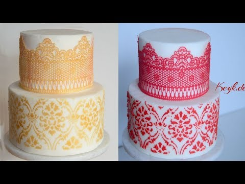 Edible Lace for Cakes - cake lace - coloring gold