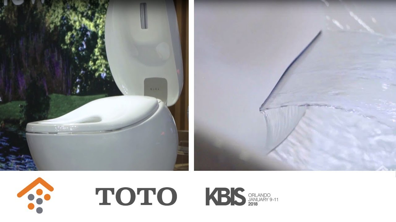 TOTO USA Unveils Next Generation of Bathroom Fixtures at KBIS - YouTube