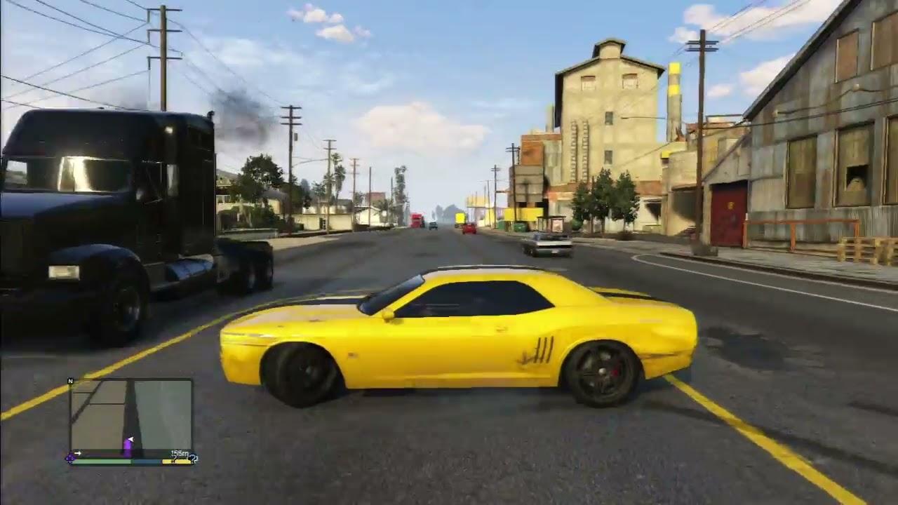 Gta 5 Dodge Challenger Drift Youtube