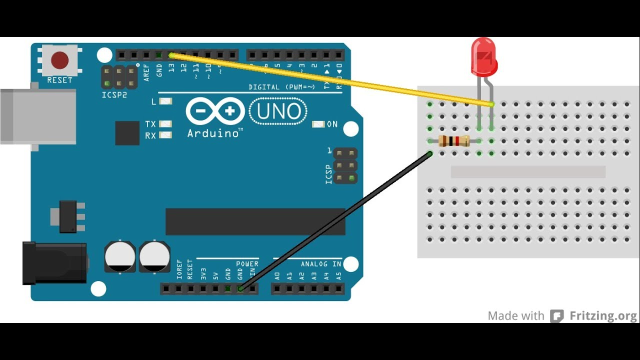 Getting Started With Arduino Blinking Led Youtube Blinked To Blink An You Need Some Kind Of Electronic Circuit
