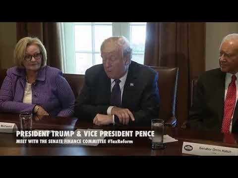 President Trump and Vice President Pence Meet with The Senate Finance Committee TaxReFrom