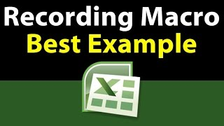 How to record excel macro using macro recorder   Best example 2