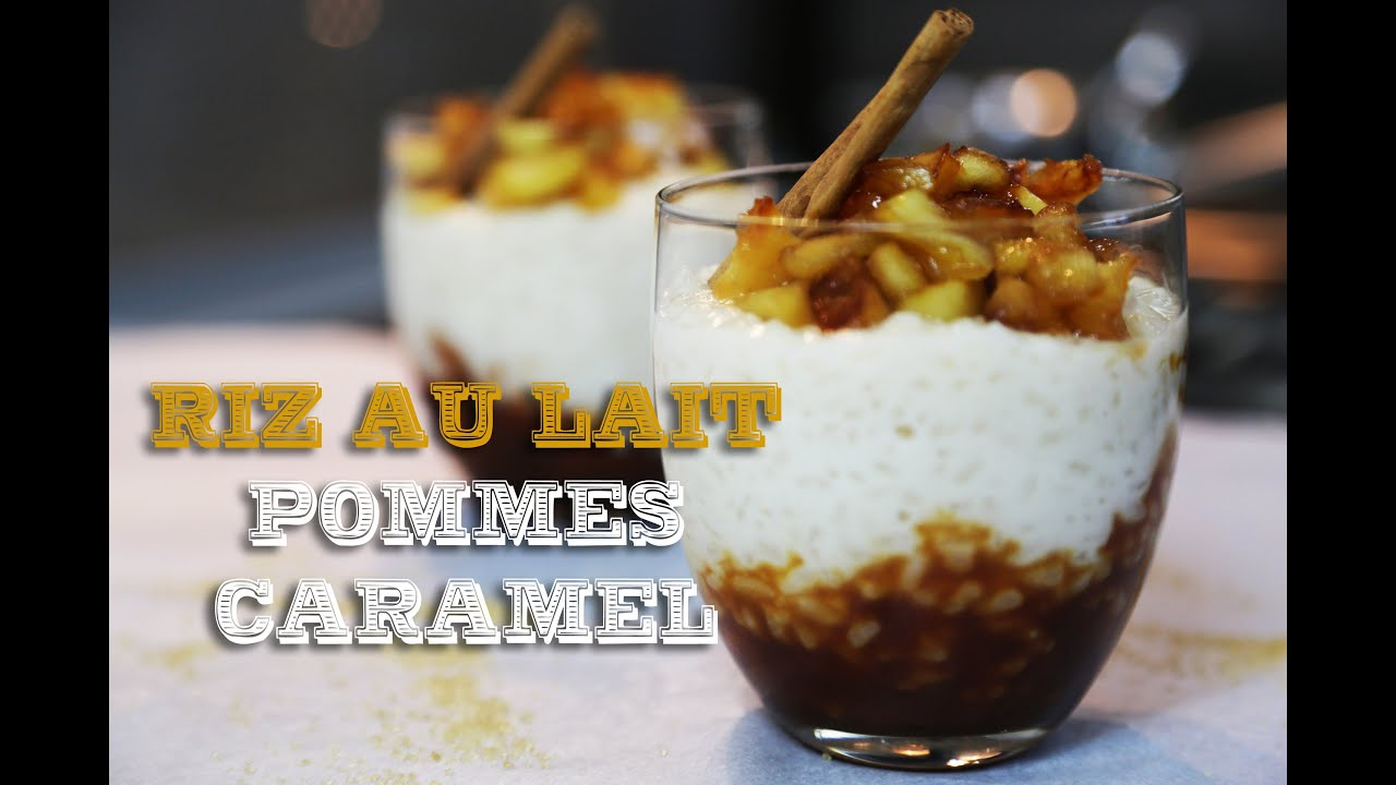 recette du riz au lait pommes et caramel au beurre sal youtube. Black Bedroom Furniture Sets. Home Design Ideas