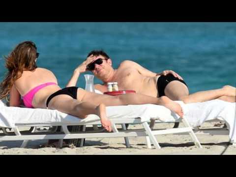 Simon Le Bon hits Miami beach with bikini clad female companion enjoys downtime ahead of Duran Duran