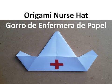 Origami Nurse Hat - Gorro de Enfermera de Papel