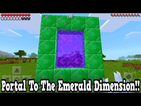 Minecraft Pe - Portal To The Emerald Dimension - Mcpe Portal To The Emerald!!!