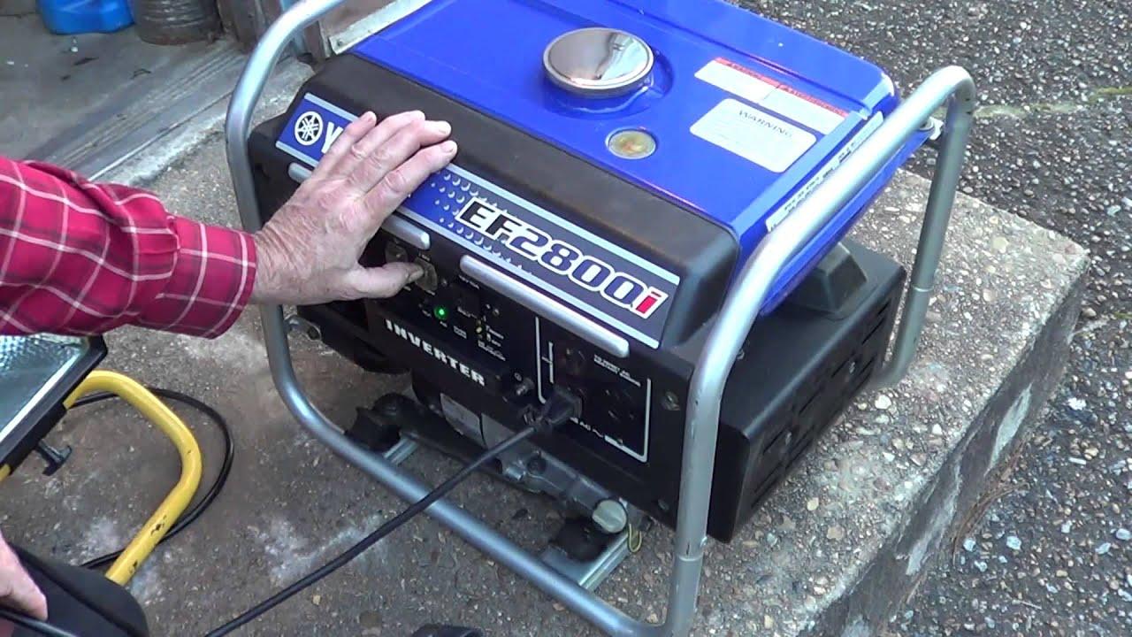 Yamaha ef2800i inverter generator doovi for Yamaha generator canada