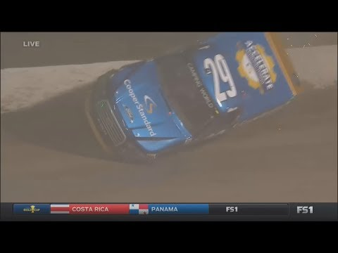 NASCAR Camping World Truck Series 2017. FP Eldora Speedway. Chase Briscoe Near Flip Crash