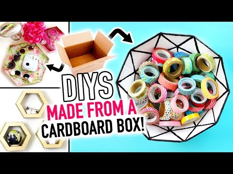 3 DIYS Made Out of a Cardboard Box! - HGTV Handmade