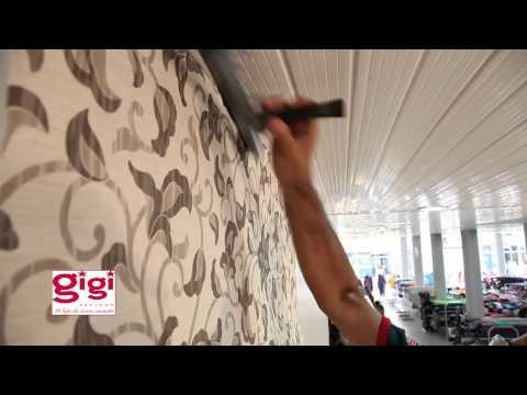 Decoração: colagem de tecidos na parede