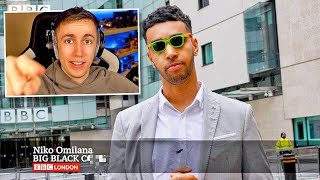 "Miniminter Reacts To Niko Omilana ""I PRANKED The News"""