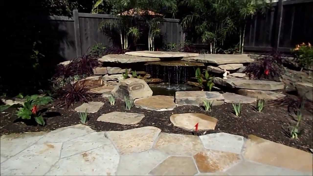 Small pond waterfall - YouTube on Small Backyard Pond With Waterfall id=20371