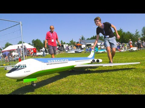 AMAZING RC MODEL AIRLINER IL-62M FLIGHT DEMO!! *REMOTE CONTROL PLANE*RC JET*RC PLANE