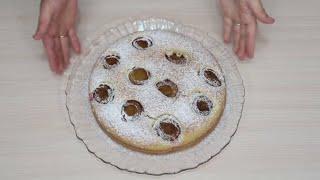 Пирог со сливами рецепт