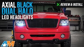 2004-2008 F-150 Axial Black Dual Halo LED Projector Headlights Review & Install