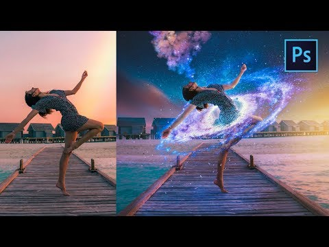 [ Photoshop Manipulation ] How To Create Galaxy Manipulation In Photoshop - Photo Editing Tutorial