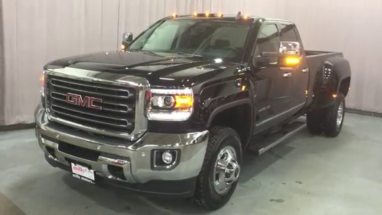2016 gmc sierra 3500 slt double cab 4wd dually oshawa on stock 160173 youtube. Black Bedroom Furniture Sets. Home Design Ideas
