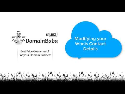 04 Modifying your Whois Contact Details | DomainBaba.biz