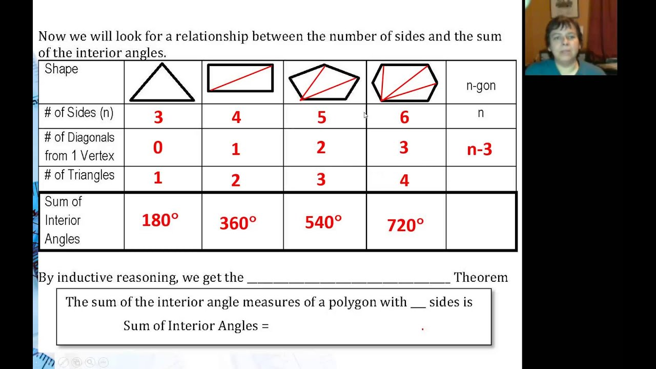 Sum of interior angles in a polygon youtube - Define exterior angle of a polygon ...