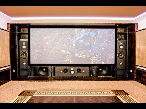Home Theater Custom Design Components Installation See Front Speakers