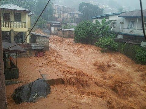floods in Freetown, flood in Sierra Leone, mudslides, rivers of mud , disaster in Sierra Leone,