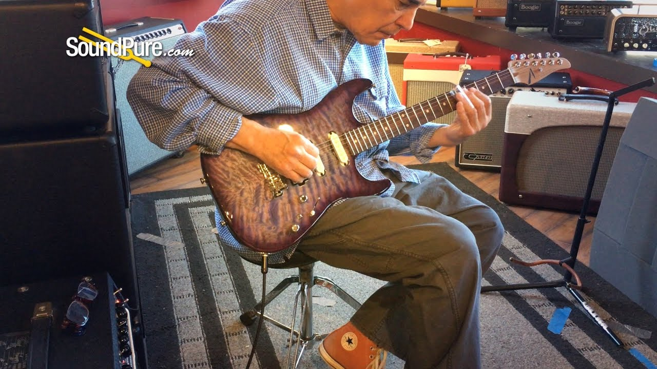 Anderson Drop Top Abalone To Trans Purple Burst #02-27-19A