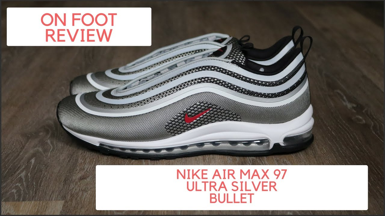 321d18d1b035 EARLY LOOK  NIKE AIR MAX ULTRA 97 SILVER BULLET REVIEW - YouTube
