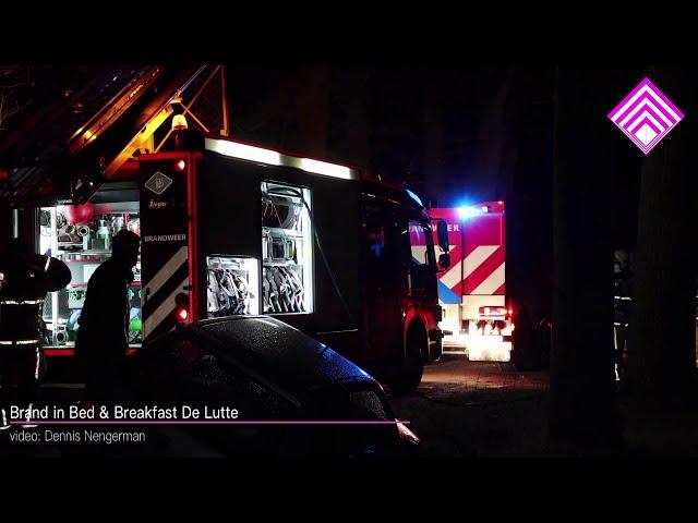 Brand in Bed & Breakfast De Lutte; deel van gebouw verloren gegaan