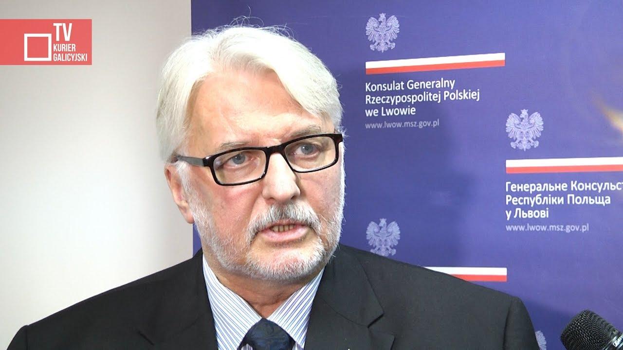 Początek wizyty ministra Witolda Waszczykowskiego we Lwowie