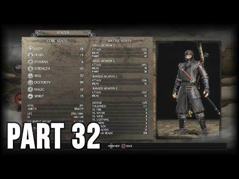 Nioh (Way of the Strong) - 100% Walkthrough Part 32 [PS4] – Setting up a Ninja Build