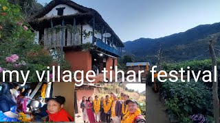 भाइ टिका लगाउदै  ll TIHAR VLOG ll Baseri village Khotang