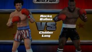 Rocky legends (PS2) Rocky Balboa vs Clubber Lang (Career Rocky Balboa)