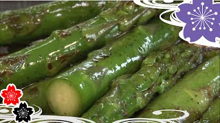 Asparagus roasted with kombu soy sauce✿Japanese Food Recipes TV