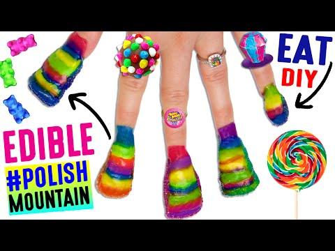 DIY EDIBLE #PolishMountain | EAT Your Finger Nails Off | Nail Polish Tower | A Nail Biters Dream!