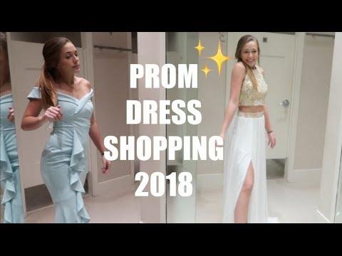 3e388dc6ba1 PROM DRESS SHOPPING 2018 - YouTube