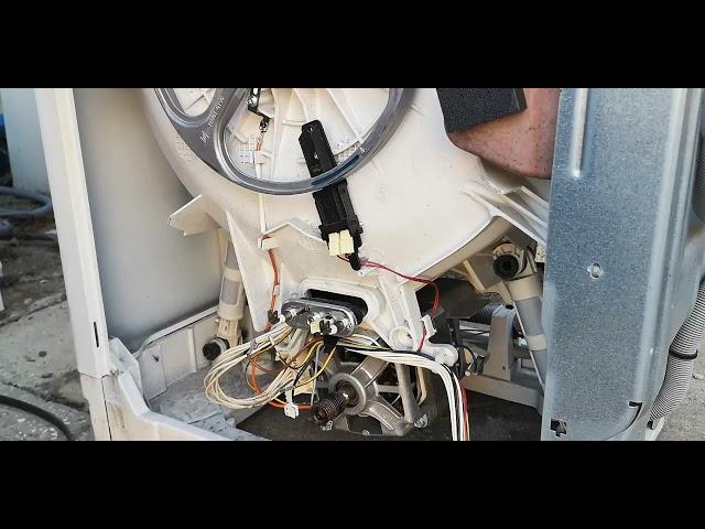 Zanussi Electrolux AEG felültöltős mosógép fűtőtest kiszedés