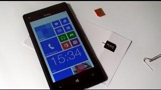 Вставляем и извлекаем микро SIM-карту - HTC 8X WP8