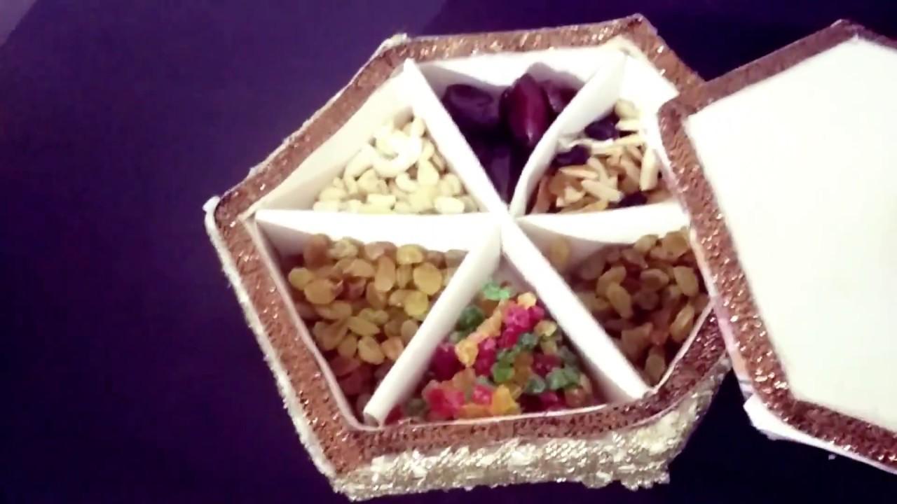 Diy Dry Fruit Box Using Pop Sticks Indian Wedding Craft Ideas