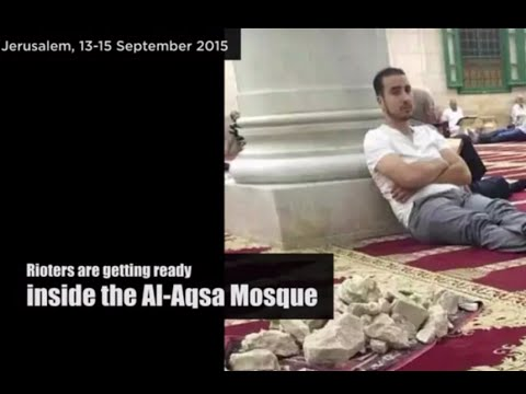 Radical Islamist violence on Temple Mount in Jerusalem during the Jewish New Year